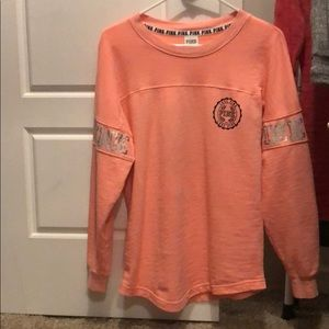 Victoria secret PINK long sleeve shirt orange xs